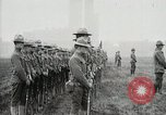 Image of US Army troops and band marching with flag during training United States USA, 1916, second 51 stock footage video 65675022632