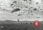 Image of Massive air drop by 187th Airborne Regimental Combat Team Korea, 1951, second 11 stock footage video 65675022693