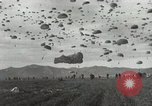 Image of Massive air drop by 187th Airborne Regimental Combat Team Korea, 1951, second 13 stock footage video 65675022693