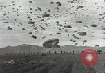 Image of Massive air drop by 187th Airborne Regimental Combat Team Korea, 1951, second 14 stock footage video 65675022693