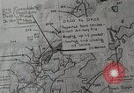 Image of 1st Marine Division situation map Peleliu Palau Islands, 1944, second 14 stock footage video 65675022858