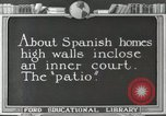 Image of Spanish Patio Mexico City Mexico, 1925, second 2 stock footage video 65675023038