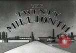 Image of Ford promotional on occasion of 20 millionth automobile Detroit Michigan USA, 1931, second 16 stock footage video 65675023075