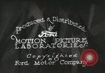 Image of Ford promotional on occasion of 20 millionth automobile Detroit Michigan USA, 1931, second 24 stock footage video 65675023075