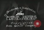 Image of Ford promotional on occasion of 20 millionth automobile Detroit Michigan USA, 1931, second 25 stock footage video 65675023075