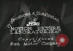 Image of Ford promotional on occasion of 20 millionth automobile Detroit Michigan USA, 1931, second 27 stock footage video 65675023075