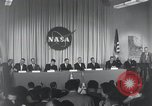 Image of NASA press conference Washington DC USA, 1959, second 17 stock footage video 65675023288
