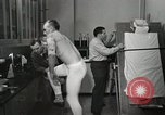 Image of NASA testing Hal Crandall for fitness Ohio United States USA, 1959, second 18 stock footage video 65675023415
