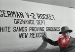 Image of German V-2 Rocket New Mexico United States USA, 1946, second 52 stock footage video 65675023444