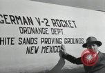 Image of German V-2 Rocket New Mexico United States USA, 1946, second 54 stock footage video 65675023444