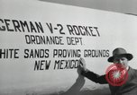 Image of German V-2 Rocket New Mexico United States USA, 1946, second 55 stock footage video 65675023444