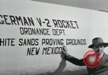 Image of German V-2 Rocket New Mexico United States USA, 1946, second 56 stock footage video 65675023444
