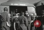 Image of Redstone Missile being fueled from trucks New Mexico United States USA, 1960, second 47 stock footage video 65675023466
