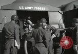 Image of Redstone Missile being fueled from trucks New Mexico United States USA, 1960, second 50 stock footage video 65675023466