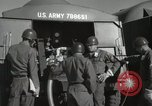 Image of Redstone Missile being fueled from trucks New Mexico United States USA, 1960, second 51 stock footage video 65675023466