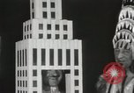 Image of architects dressed as buildings New York City USA, 1931, second 15 stock footage video 65675023621