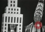 Image of architects dressed as buildings New York City USA, 1931, second 16 stock footage video 65675023621