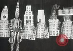 Image of architects dressed as buildings New York City USA, 1931, second 27 stock footage video 65675023621