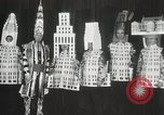 Image of architects dressed as buildings New York City USA, 1931, second 28 stock footage video 65675023621