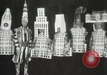Image of architects dressed as buildings New York City USA, 1931, second 29 stock footage video 65675023621