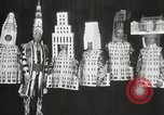 Image of architects dressed as buildings New York City USA, 1931, second 31 stock footage video 65675023621