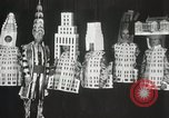 Image of architects dressed as buildings New York City USA, 1931, second 33 stock footage video 65675023621