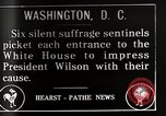 Image of Women suffragettes Washington DC USA, 1917, second 1 stock footage video 65675025352