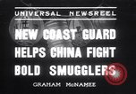 Image of Chinese cruisers to stop smuggling China, 1936, second 1 stock footage video 65675025722