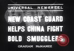 Image of Chinese cruisers to stop smuggling China, 1936, second 2 stock footage video 65675025722