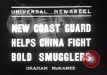 Image of Chinese cruisers to stop smuggling China, 1936, second 5 stock footage video 65675025722