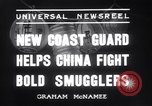 Image of Chinese cruisers to stop smuggling China, 1936, second 6 stock footage video 65675025722