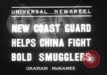 Image of Chinese cruisers to stop smuggling China, 1936, second 7 stock footage video 65675025722