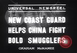 Image of Chinese cruisers to stop smuggling China, 1936, second 10 stock footage video 65675025722