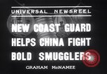 Image of Chinese cruisers to stop smuggling China, 1936, second 11 stock footage video 65675025722