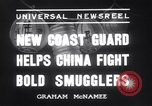 Image of Chinese cruisers to stop smuggling China, 1936, second 12 stock footage video 65675025722