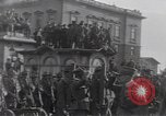 Image of Gabriele D'Annunzio leads force of volunteers Fiume Croatia, 1919, second 15 stock footage video 65675025861