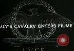 Image of Italy cavalry Fiume Italy, 1918, second 2 stock footage video 65675026091