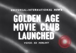 Image of Golden age movie club New York United States USA, 1958, second 4 stock footage video 65675027987