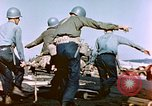 Image of Wounded US Marines on D-Day of Iwo Jima Iwo Jima, 1945, second 25 stock footage video 65675029319