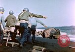 Image of Wounded US Marines on D-Day of Iwo Jima Iwo Jima, 1945, second 26 stock footage video 65675029319