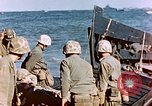 Image of Wounded US Marines on D-Day of Iwo Jima Iwo Jima, 1945, second 46 stock footage video 65675029319