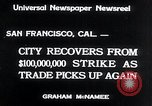 Image of West Coast Strike ends San Francisco California USA, 1934, second 3 stock footage video 65675029864