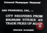Image of West Coast Strike ends San Francisco California USA, 1934, second 4 stock footage video 65675029864