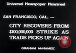 Image of West Coast Strike ends San Francisco California USA, 1934, second 7 stock footage video 65675029864