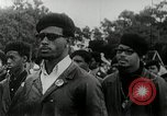 Image of Black Panther Party march and demonstration Oakland California USA, 1968, second 6 stock footage video 65675029943