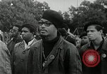 Image of Black Panther Party march and demonstration Oakland California USA, 1968, second 8 stock footage video 65675029943