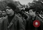 Image of Black Panther Party march and demonstration Oakland California USA, 1968, second 9 stock footage video 65675029943
