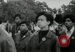 Image of Black Panther Party march and demonstration Oakland California USA, 1968, second 14 stock footage video 65675029943