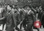 Image of Black Panther Party march and demonstration Oakland California USA, 1968, second 41 stock footage video 65675029943