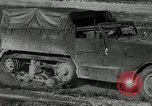 Image of half-track truck blending tank track and tires Akron Ohio USA, 1941, second 2 stock footage video 65675030484